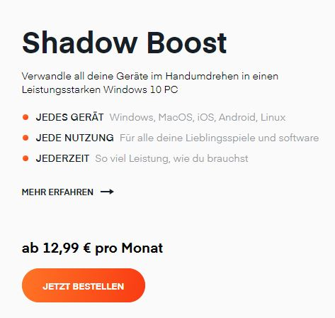 Was kostet Shadow?